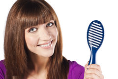 Healthy long straight female hair Royalty Free Stock Image