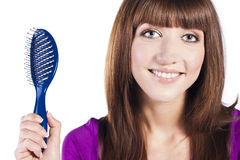 Healthy long straight female hair Royalty Free Stock Photos