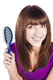 Healthy long straight female hair Stock Photo