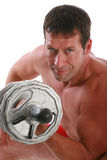 Healthy Looking Man Lifting Dumbbells Stock Image