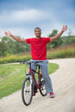 Healthy Looking Young African American Biking Outdoor Royalty Free Stock Image