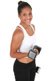 Healthy Looking Young Female Lifting Weight Stock Photography