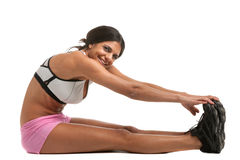 Healthy Looking Young Female Stretch  Stock Image