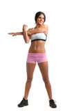 Healthy Looking Young Female Stretch  Stock Images