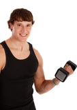 Healthy Looking Young Man Lifting Weight Royalty Free Stock Photos