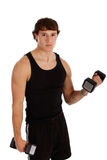Healthy Looking Young Man Lifting Weight Stock Photography