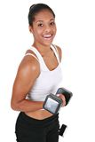 Healthy Looking YoungFemale Lifting Weight Stock Photos