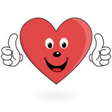 Healthy love heart Stock Photography