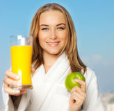 Healthy lovely young woman dieting Royalty Free Stock Photo