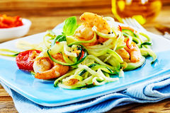 Healthy low carbohydrate seafood starter stock photos