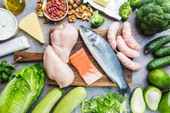 Ketogenic diet concept stock images