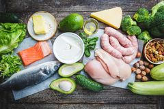 Ketogenic diet concept stock photo