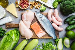 Ketogenic diet concept royalty free stock photography