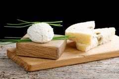 Healthy low fat cream cheese Stock Images