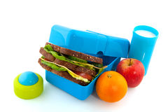 Healthy lunch box royalty free stock photos