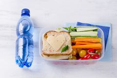 Healthy lunch box Royalty Free Stock Image