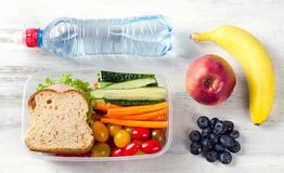 Healthy lunch box Stock Photography