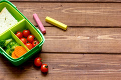 Healthy lunch box for student with juice Royalty Free Stock Photo