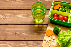 Healthy lunch box for student with juice Royalty Free Stock Photography