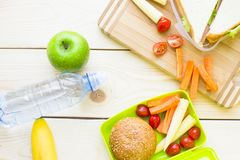 Healthy Lunch in a box royalty free stock image