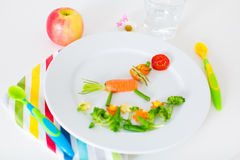 Healthy lunch for kids Royalty Free Stock Photo
