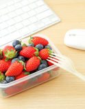 Healthy lunch at office Royalty Free Stock Images