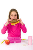 Healthy lunch at school Royalty Free Stock Image