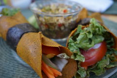Healthy lunch wrap Stock Photography