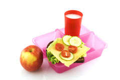 Healthy lunchbox Stock Image