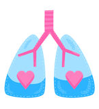 Healthy Lungs. A concept for healthy lungs and respiratory system Stock Images