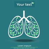 Healthy lungs Royalty Free Stock Photos