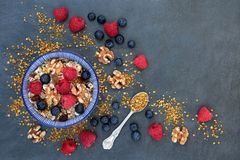 Healthy Macrobiotic Breakfast Royalty Free Stock Image