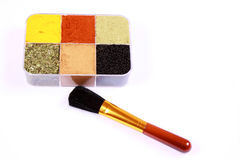 Healthy make-up concept for Your food - horizontal. Spice box as a make-up case concept  for Your food -horizontal Royalty Free Stock Photo