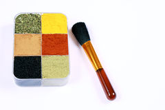 Healthy make-up concept for Your food - vertical. Spice box as a make-up case concept  for Your food -vertical Royalty Free Stock Image