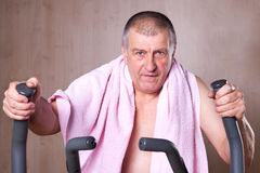 Healthy man exercising. Stock Photography