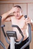 Healthy man exercising. Royalty Free Stock Photo