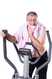 Healthy man exercising. Royalty Free Stock Photography