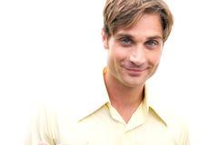 Healthy Man Smirking Stock Photo