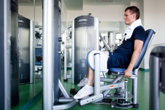Healthy man in a sport center Stock Photo