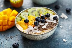 Healthy Mango Smoothie Stock Images