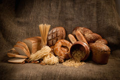 Healthy  meal with bread , cereals Stock Image
