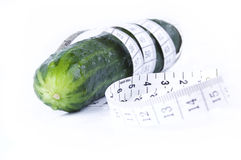 A healthy meal - cucumber Royalty Free Stock Images