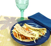 Healthy meal of fish tacos