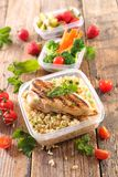 Lunch box. Healthy meal in lunch box Royalty Free Stock Photo