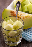 Healthy meal with melon Royalty Free Stock Photo