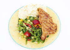 Healthy Meal On Plate Royalty Free Stock Image