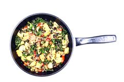 Healthy Meal in Pan Stock Photo