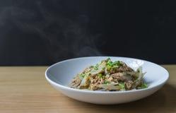 Stir fried tuna with onion Stock Images