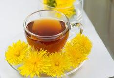 Healthy Medicine Springtime dandelion tea Stock Photos