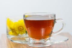 Healthy Medicine Springtime dandelion tea Stock Photo